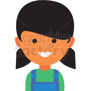 female farmer icon vector clipart clipart. Royalty-free image # 411546