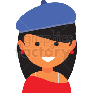 female artist icon vector clipart clipart. Commercial use image # 411549