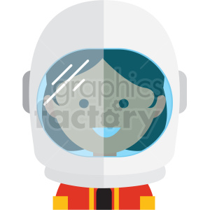 female astronaut avatar icon vector clipart clipart. Royalty-free image # 411559