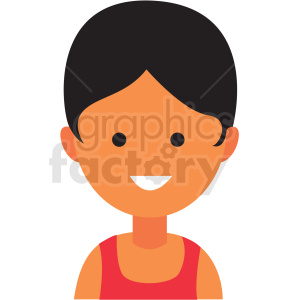 female athlete emote icon vector clipart clipart. Commercial use image # 411563