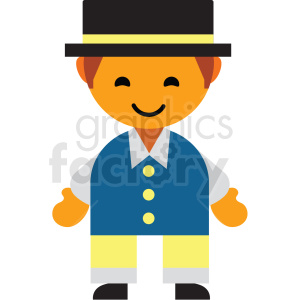 Sweden male character icon vector clipart clipart. Royalty-free image # 411572