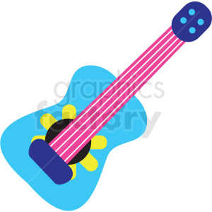 mexican guitar vector clipart clipart. Royalty-free image # 411629