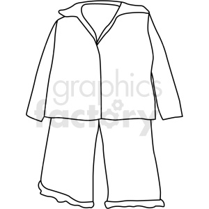 black white pjs icon vector clipart clipart. Commercial use image # 411686