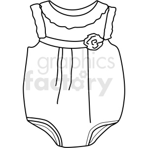 black white baby clothing icon vector clipart clipart. Royalty-free image # 411698
