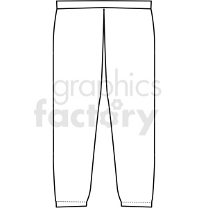 black white jogging pants vector clipart clipart. Royalty-free image # 411720
