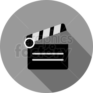 clapperboard circle icon design clipart. Commercial use image # 411866