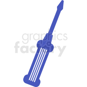 blue screwdriver vector design clipart. Commercial use image # 411888