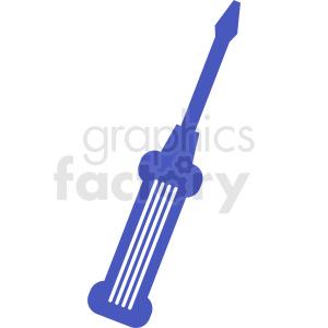 blue screwdriver vector design