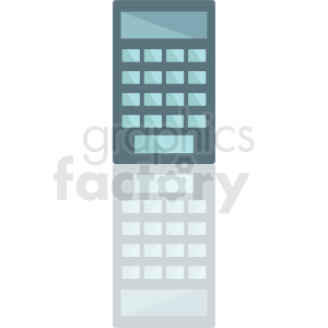calculator with reflection vector icon clipart. Royalty-free image # 411897
