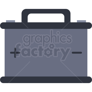 car battery vector flat icon clipart. Royalty-free image # 411906