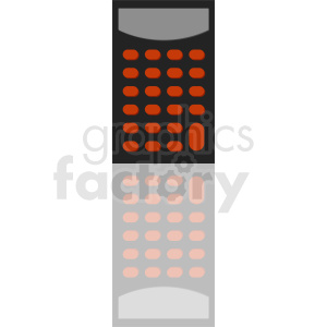 calculator with reflection clipart clipart. Royalty-free image # 411936