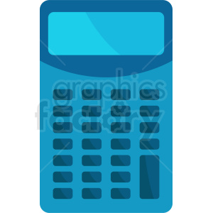 blue calculator vector clipart clipart. Commercial use image # 411956