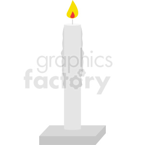 white candle burning vector clipart clipart. Royalty-free image # 412017
