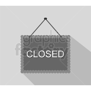 closed sign vector clipart. Commercial use image # 412059