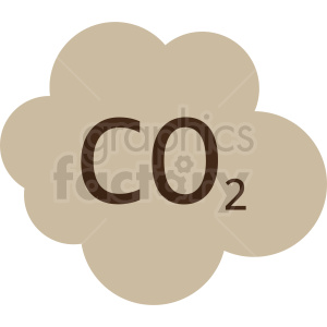 co2 cloud vector clipart clipart. Royalty-free image # 412082