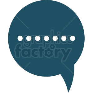 blue chat bubble vector clipart clipart. Royalty-free image # 412106