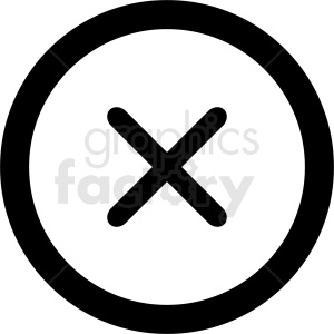 close symbol vector clipart clipart. Commercial use image # 412116