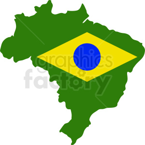 Brazil with flag vector clipart. Royalty-free image # 412186