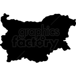 Bulgaria silhouette vector