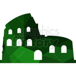 Colosseum green vector design clipart. Commercial use image # 412224