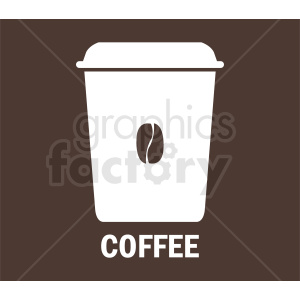 coffee travel cup on brown background vector clipart. Royalty-free image # 412232
