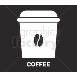 coffee travel cup on dark background vector
