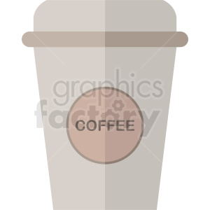 coffee cup vector clipart. Royalty-free image # 412243