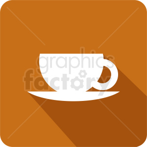 coffee cup on small plate vector clipart. Commercial use image # 412246