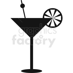 cocktail vector silhouette clipart. Royalty-free image # 412250