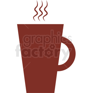 red coffee cup design clipart. Commercial use image # 412286