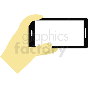 hand holding phone camera clipart. Royalty-free image # 412293