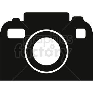 black and white camera vector clipart. Royalty-free image # 412303