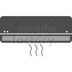 wall ac unit vector clipart clipart. Commercial use image # 412309