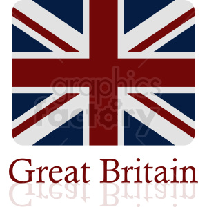 Great Britain flag vector icon clipart. Commercial use image # 412337