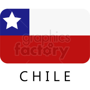 Chile flag icon with title clipart. Royalty-free image # 412346