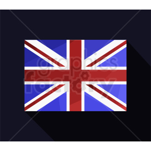 Great Britain flag icon on dark background clipart. Commercial use image # 412353