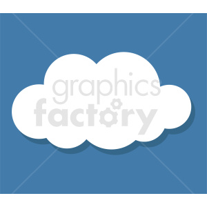 cloud clipart on square blue background clipart. Commercial use image # 412370