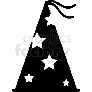 wizard hat vector icon clipart. Royalty-free image # 412394