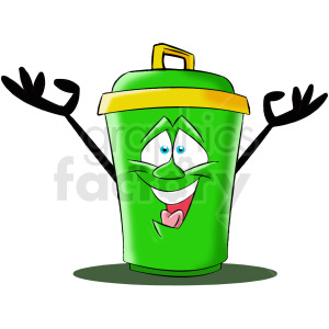 cartoon trash can character clipart. Royalty-free image # 412454
