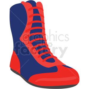 red and blue boxing shoe vector clipart clipart. Commercial use image # 412516