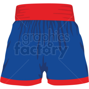 red and blue boxing shorts vector clipart clipart. Royalty-free image # 412530