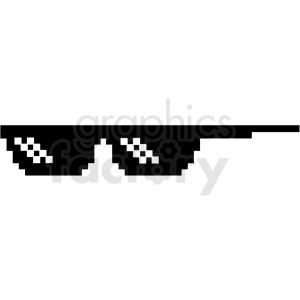 thug life 8 bit sunglasses left svg cut file clipart. Commercial use image # 412614