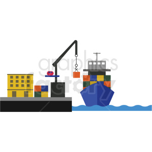 shipping port vector clipart clipart. Commercial use image # 412694