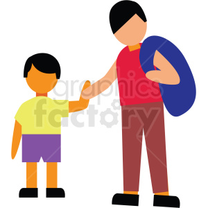 father and son vector clipart clipart. Commercial use image # 412744