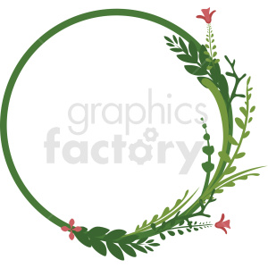 circle wreath frame vector clipart clipart. Royalty-free image # 412778