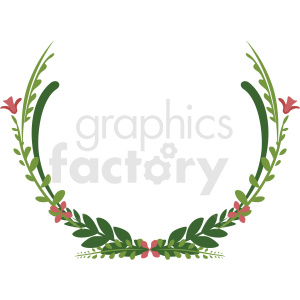 wreath frame vector clipart clipart. Royalty-free image # 412779