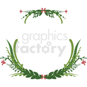 floral wreath frame vector clipart clipart. Royalty-free image # 412784