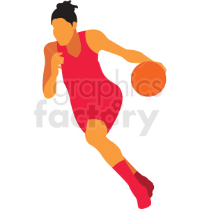 olympic female basketball player vector clipart clipart. Commercial use image # 412819