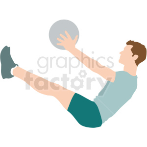 man doing situps vector illustration clipart. Commercial use image # 412878
