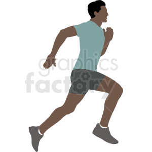 hispanic man running vector illustration clipart. Commercial use image # 412895